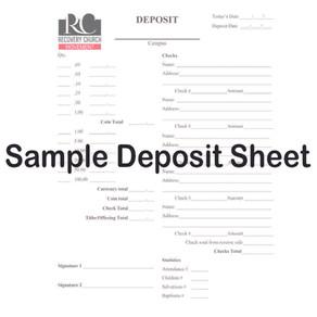 Sample Deposit Sheet
