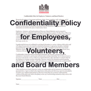 Confidentiality Policy for Employees, Volunteers, and Board Members