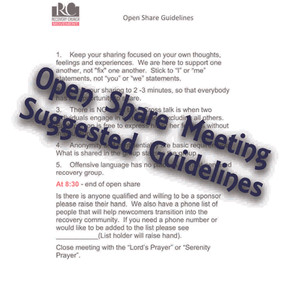 Open Share Meeting Suggested Guidelines