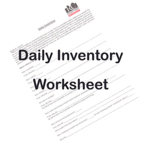 Daily Inventory Worksheet