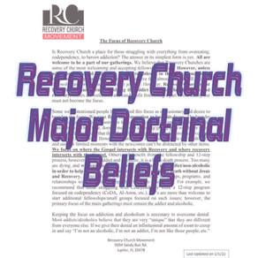 Recovery Church Major Doctrinal Beliefs