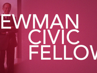 Congratulations to the 2018 Newman Civic Fellows
