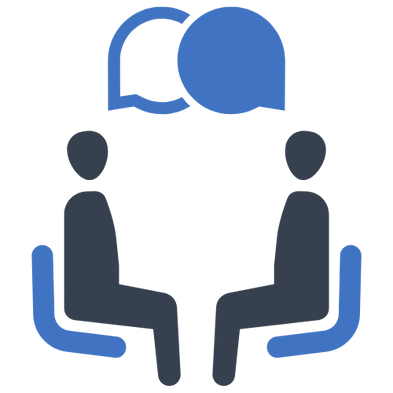 interview discussion icon