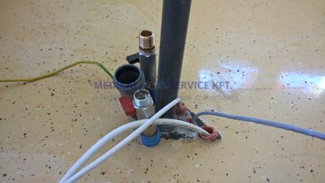 A padlókiállásokat is mit terveztük az épülő fogászati rendelő számára