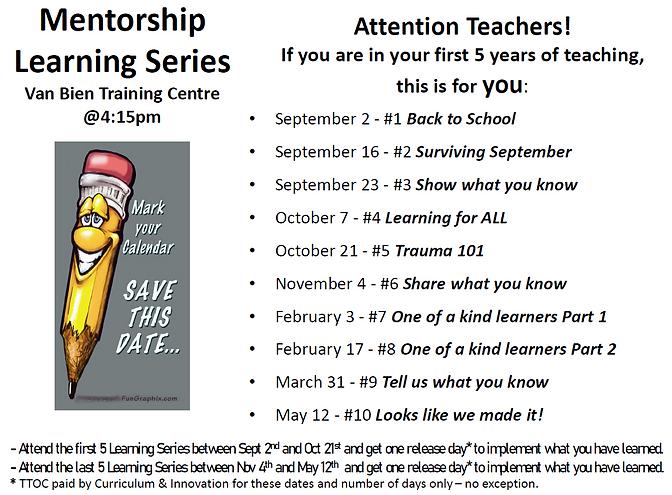 2021-2022 Mentorship Learning Series Dat