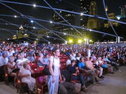 Night crowd shot