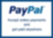 Accept payments or donations online with PayPal.