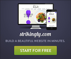 Build a website in minutes with Strikingly