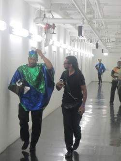 Band work their way to the stage (5)