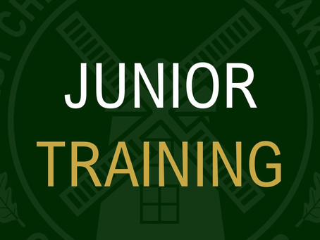Junior Training Times