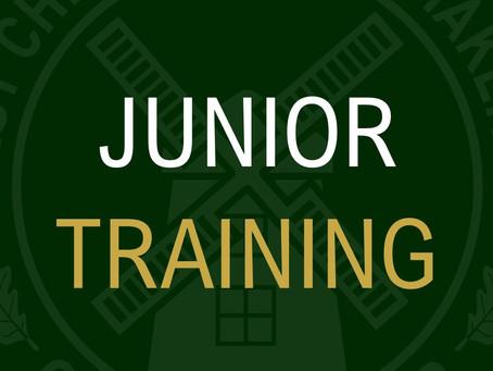 Junior Training Times
