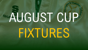 August Cup Groups and Fixtures Announced