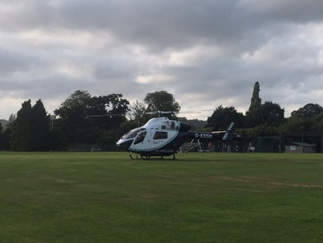 Air Ambulance at Chilt