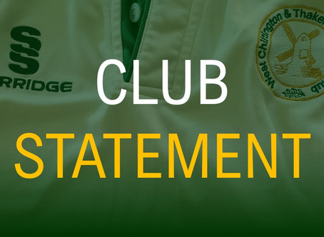 Statement on the Return of Cricket