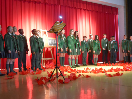 Live-stream of virtual Armistice Service enables wider participation throughout school community.