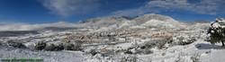 Panoramablick von Berga Schneefall