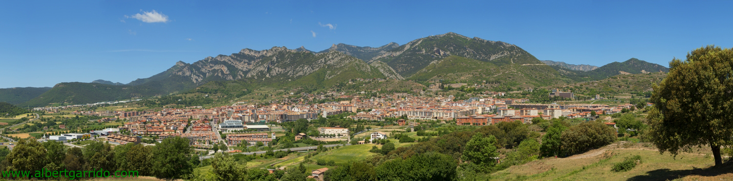 Panoramic view of Berga