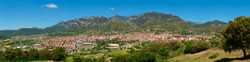 Panoramablick auf Berga