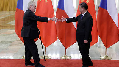 the jurner of the czech president from the west to the east