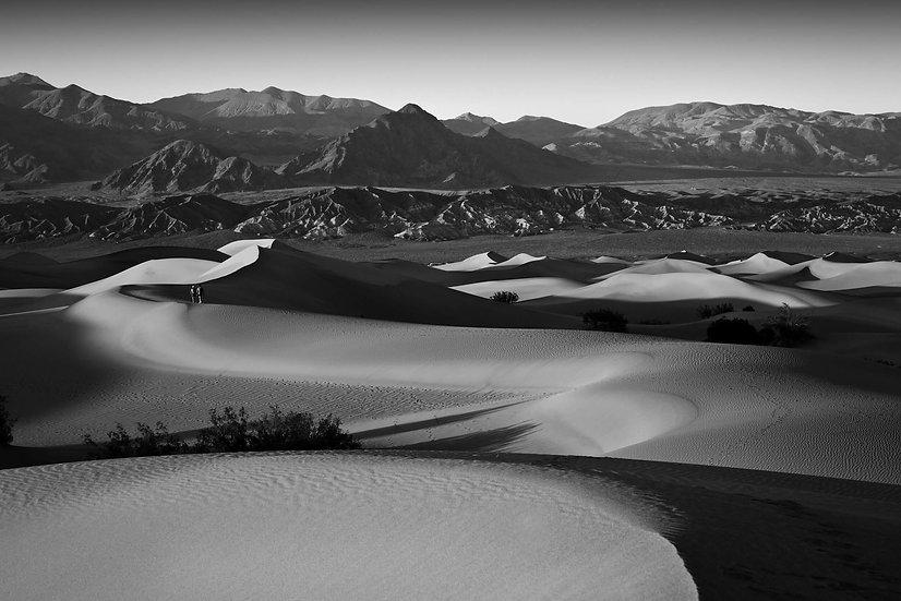 Walking The Dunes B&W