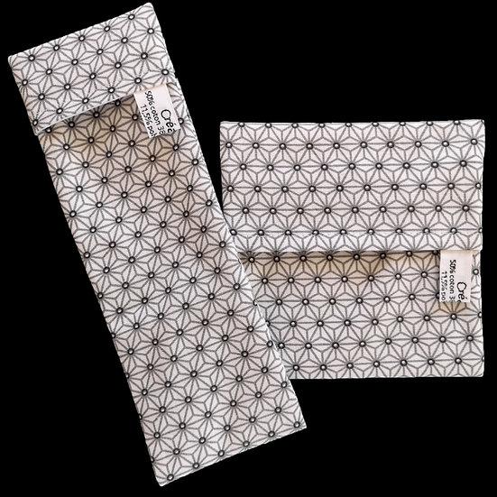 Pochettes imperméables Asanoha Blanc et gris