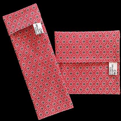 Pochettes imperméables Asanoha rouge