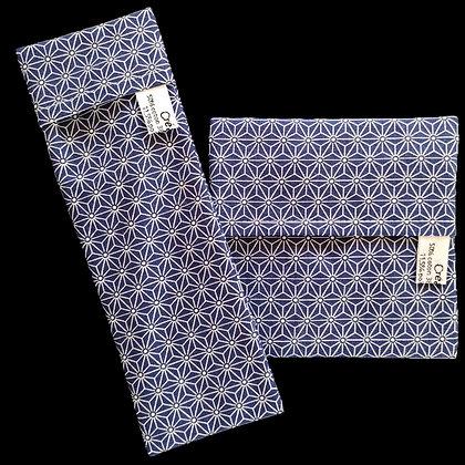Pochettes imperméables Asanoha Bleu