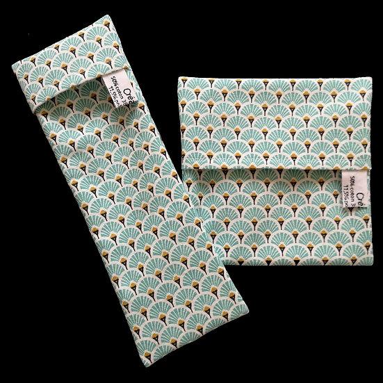 Pochettes imperméables Écailles turquoises