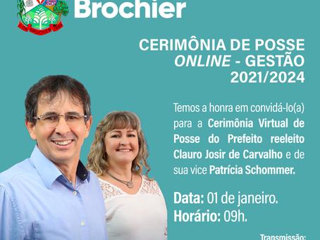 Prefeitura Municipal de Brochier Convida para Cerimônia de Posse Online – Gestão 2021/2024.
