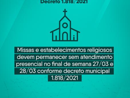 Decreto municipal 1.818/2021