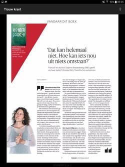 Interview door Sofie Cerutti, Trouw