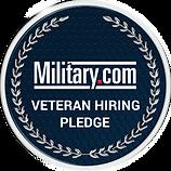 Military Veteran Hiring Pledge Badge 300
