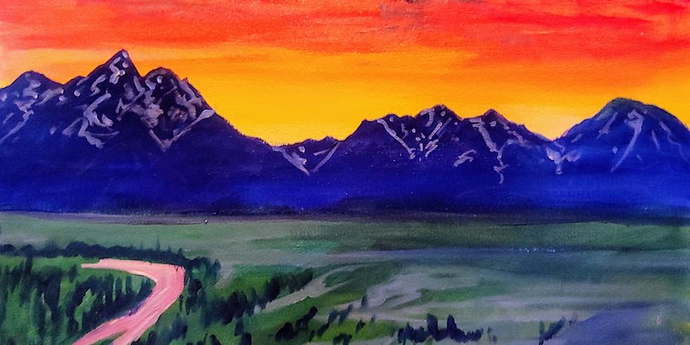 """Snake River Sunset"" @ Butter Cafe, Victor ID"