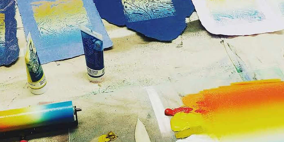 Intro to Printmaking Lino-Cut Relief