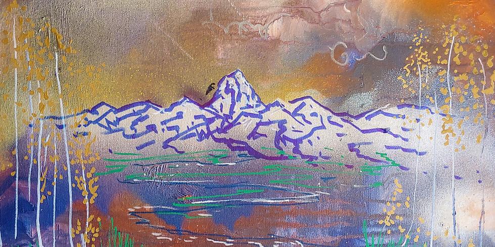 """DIY"" Abstract Landscape @ Tetonia Club"