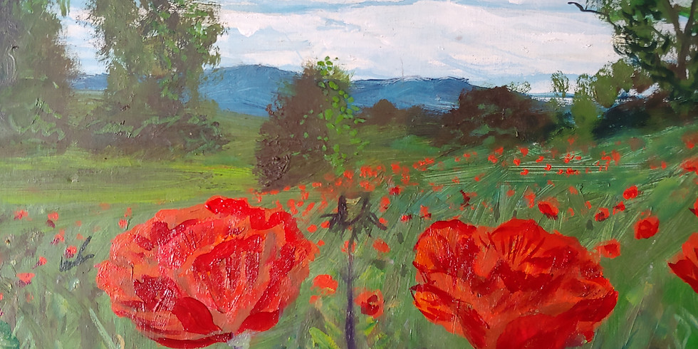 """""""Spring Poppies"""" @ Online Interactive Class"""