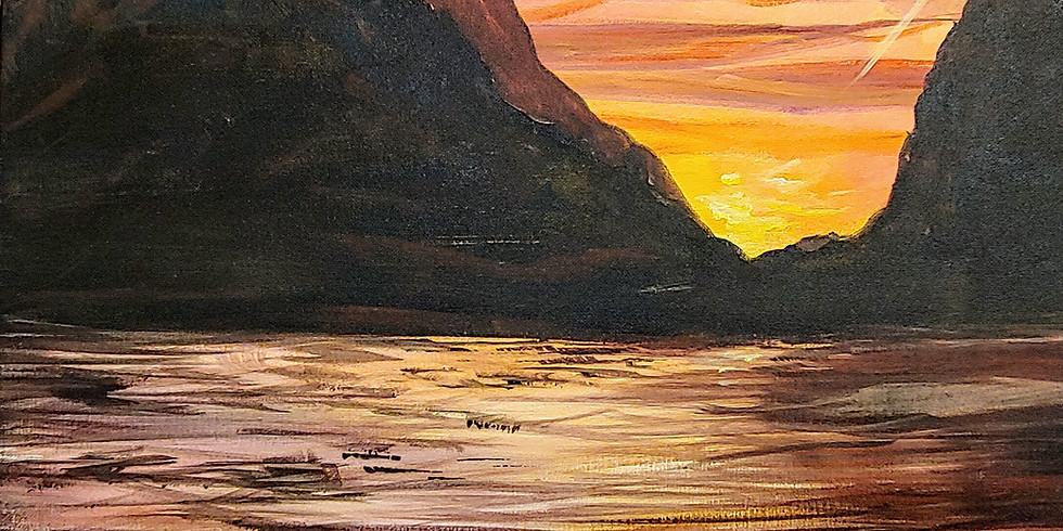 """Jenny Lake Sunset"" @ Moe's Original BBQ"