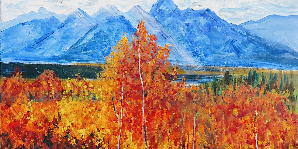 """""""Autumn in the Tetons"""" @ Online Interactive Class"""