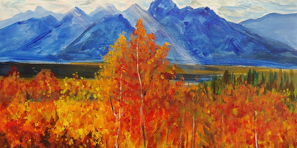 """""""Fall in the Tetons II"""" @ Rendezvous Bistro"""