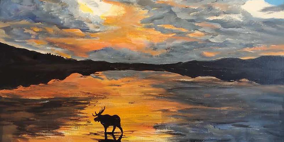 """""""Wandering Moose"""" @ Online Interactive Class"""