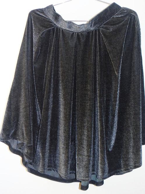 Glittery Metallic Velvety Mini Skirt