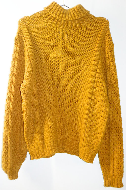 Vintage Chunky Knit Mustard Yellow Sweater