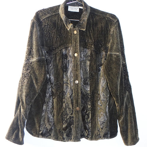 Olive Earth Tone Embroidered Jacket