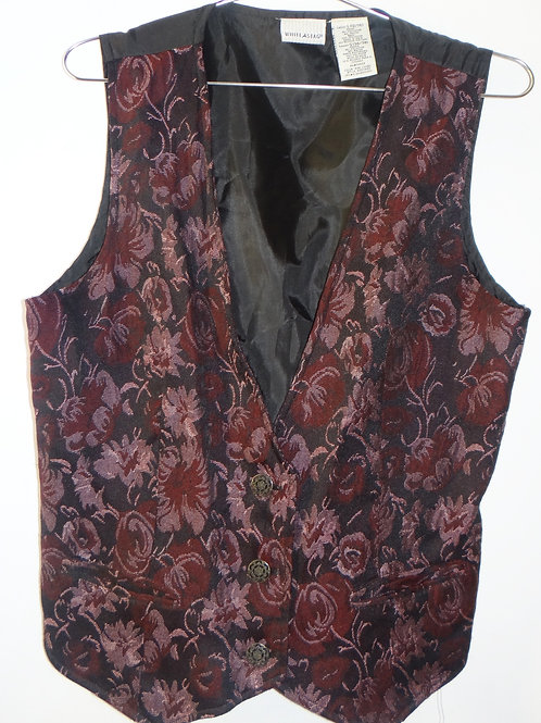 Pink and Burgundy Floral Vest