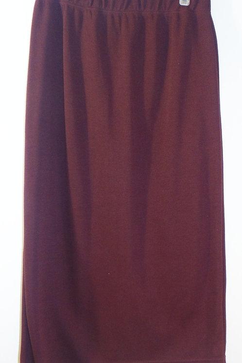 Plum Sweater Knit Pencil Skirt