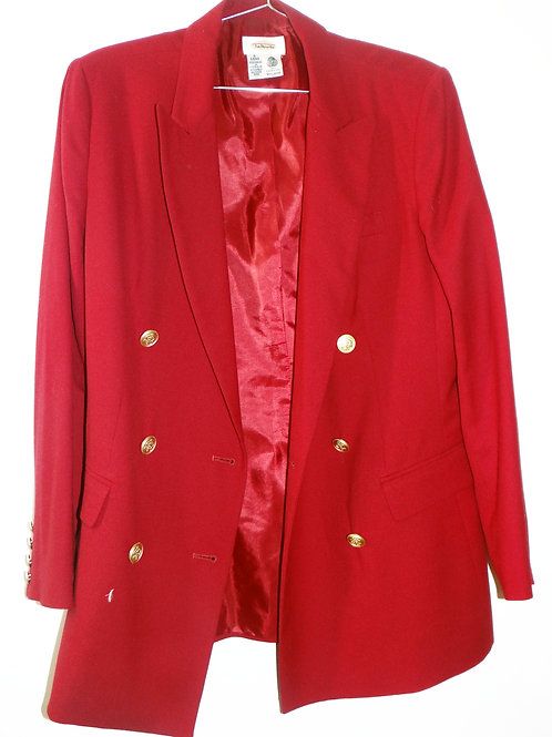 Red Suit Jacket with Gold Buttons