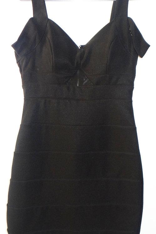 Black Bodycon Off the Shoulder Mini Dress