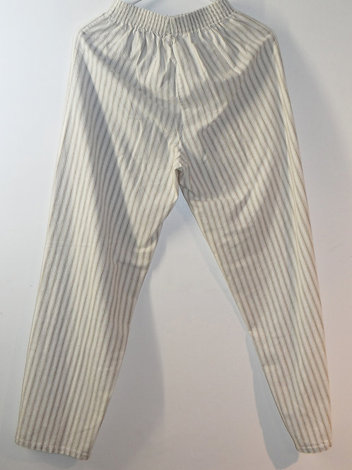 Pinstriped Off White Cotton Pants