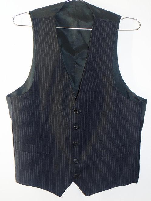Navy and Light Blue Pinstripe Vest