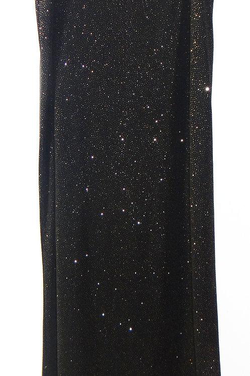 Black Sparkling Starlight Galaxy Maxi Skirt